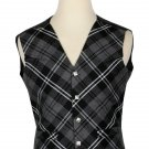 36 Size Granite Biased Pattern 5 Buttons Tartan Waistcoat / Kilt Vest For Men