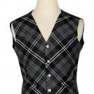 54 Size Granite Biased Pattern 5 Buttons Tartan Waistcoat / Kilt Vest For Men