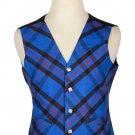 50 Size Elliot Modern Biased Pattern 5 Buttons Tartan Waistcoat / Kilt Vest For Men