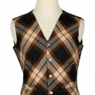 36 Size Rose Ancient Biased Pattern 5 Buttons Tartan Waistcoat / Kilt Vest For Men
