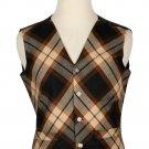 52 Size Rose Ancient Biased Pattern 5 Buttons Tartan Waistcoat / Kilt Vest For Men