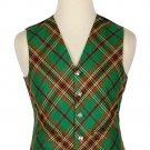 50 Size Tara Murphy Biased Pattern 5 Buttons Tartan Waistcoat / Kilt Vest For Men