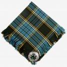 Anderson Tartan Scottish Traditional Hand Fringed Kilt FLY PLAID and Brooch / 100+ Tartan Available
