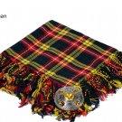 Buchanan Scottish Traditional Hand Fringed Kilt FLY PLAID and Brooch / 100+Tartan available