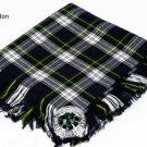 Dress Gordon Traditional Hand Fringed Kilt FLY PLAID and Brooch / 100+Tartan available