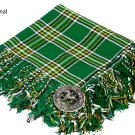 Irish National Traditional Hand Fringed Kilt FLY PLAID and Brooch / 100+Tartan available