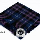 Pride of Scotland Traditional Hand Fringed Kilt FLY PLAID and Brooch / 100+Tartan available