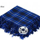 Ramsey Blue Traditional Hand Fringed Kilt FLY PLAID and Brooch / 100+Tartan available