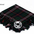 Scottish National Traditional Hand Fringed Kilt FLY PLAID and Brooch / 100+Tartan available