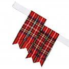 Royal Stewart Premium Handmade Scottish Tartan Kilt Flashes Garters/+100 Tartan