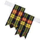 Buchanan Premium Handmade Scottish Tartan Kilt Flashes Garters/+100 Tartan