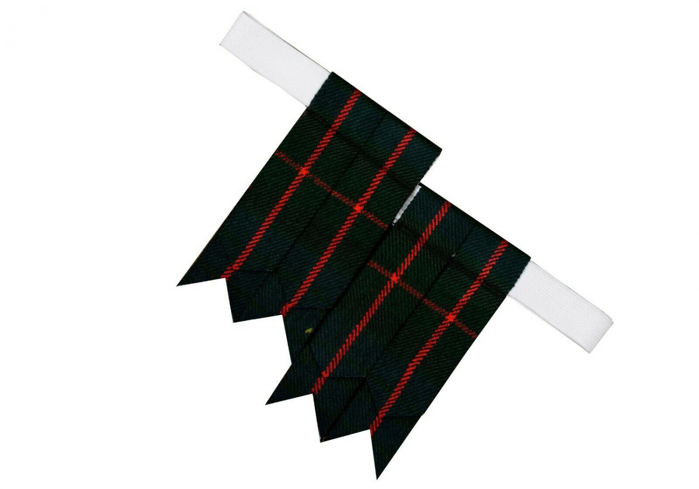 Gunn Premium Handmade Scottish Tartan Kilt Flashes Garters/+100 Tartan