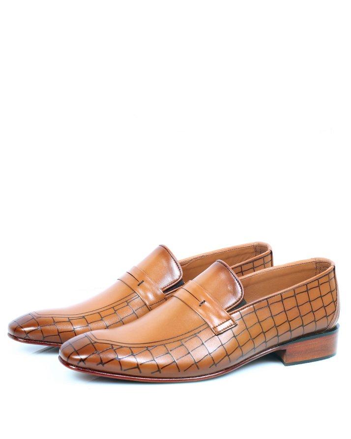 Premium Leather Handmade Formal Shoes For men ST-1918 Mustard
