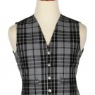 36 Size Grey Watch Handmade Traditional Scottish 5 Buttons Tartan Waistcoat / Plaid Vest