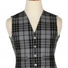 38 Size Grey Watch Handmade Traditional Scottish 5 Buttons Tartan Waistcoat / Plaid Vest