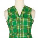 46 Size Irish Handmade Traditional Scottish 5 Buttons Tartan Waistcoat / Plaid Vest