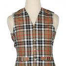 44 Size Campbell of Thompson Traditional Scottish 5 Buttons Tartan Waistcoat / Plaid Vest