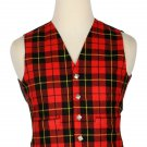 54 Size Wallace Traditional Scottish 5 Buttons Tartan Waistcoat / Plaid Vest