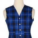 36 Size Ramsey Blue Traditional Scottish 5 Buttons Tartan Waistcoat / Plaid Vest