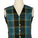 48 Size Anderson Traditional Scottish 5 Buttons Tartan Waistcoat / Plaid Vest