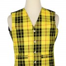 46 Size Macleod of Lewis Traditional Scottish 5 Buttons Tartan Waistcoat / Plaid Vest