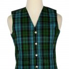 44 Size Campbell Ancient Traditional Scottish 5 Buttons Tartan Waistcoat / Plaid Vest