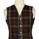 40 Size Hunting Scott Traditional Scottish 5 Buttons Tartan Waistcoat / Plaid Vest