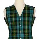 42 Size Gunn Ancient Traditional Scottish 5 Buttons Tartan Waistcoat / Plaid Vest