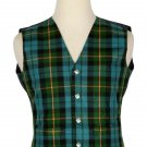 44 Size Gunn Ancient Traditional Scottish 5 Buttons Tartan Waistcoat / Plaid Vest