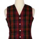42 Size Macdonald Traditional Scottish 5 Buttons Tartan Waistcoat / Plaid Vest