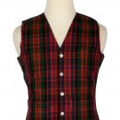 50 Size Macdonald Traditional Scottish 5 Buttons Tartan Waistcoat / Plaid Vest