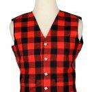 52 Size Buffalo Plaid  Traditional Scottish 5 Buttons Tartan Waistcoat / Plaid Vest
