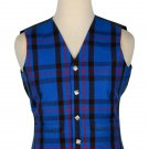 46 Size Elliot Modern  Traditional Scottish 5 Buttons Tartan Waistcoat / Plaid Vest