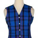 52 Size Elliot Modern  Traditional Scottish 5 Buttons Tartan Waistcoat / Plaid Vest