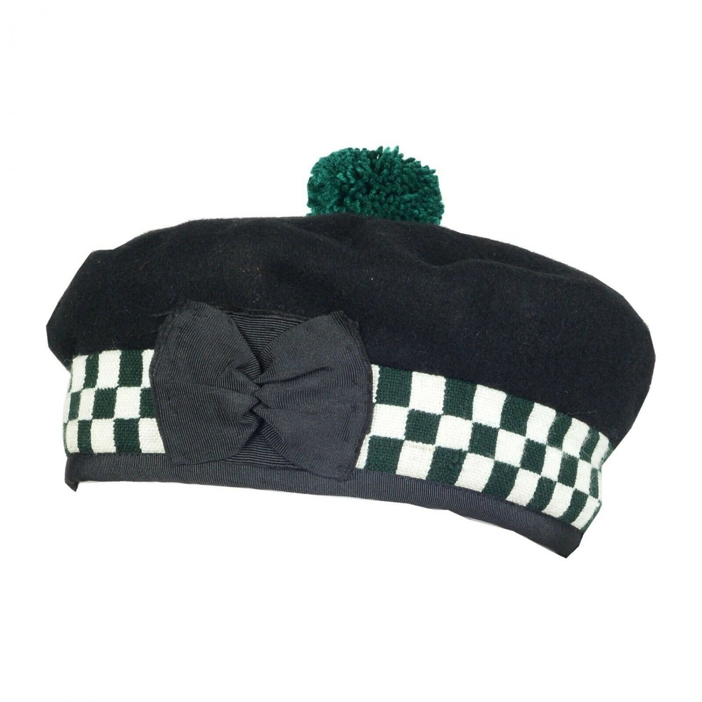 Premium Handmade Scottish Highlander Diced BALMORAL Bonnet Hat / KILT CAP