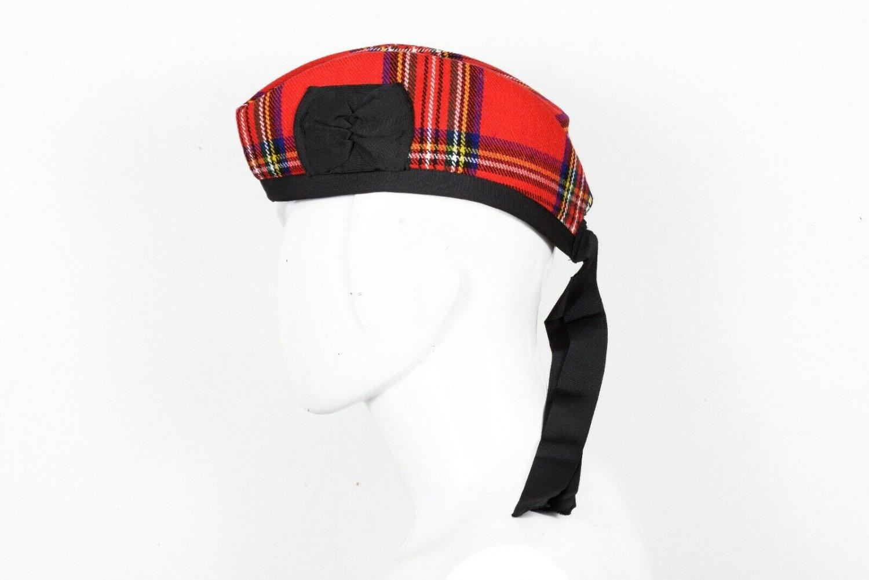 Premium Handmade Scottish Military Piper Clan Tartan Glengarry Hat/Kilt Cap / Royal Stewart