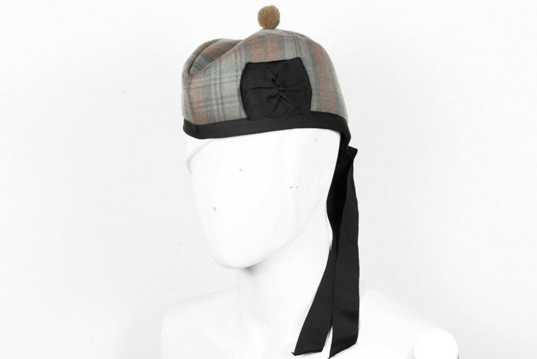 Premium Handmade Scottish Military Piper Clan Tartan Glengarry Hat/Kilt Cap / Black Watch Weathered