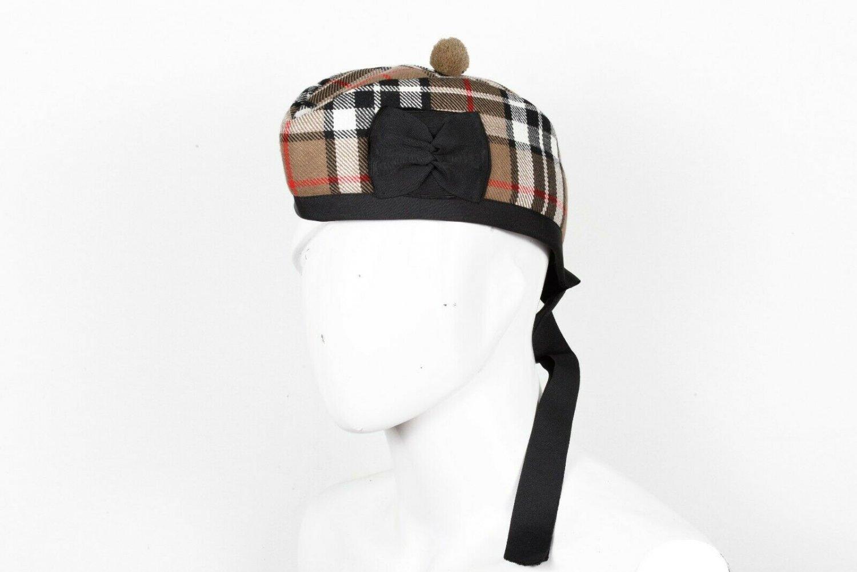 Premium Handmade Scottish Military Piper Clan Tartan Glengarry Hat/Kilt Cap / Campbell Of Thopmson