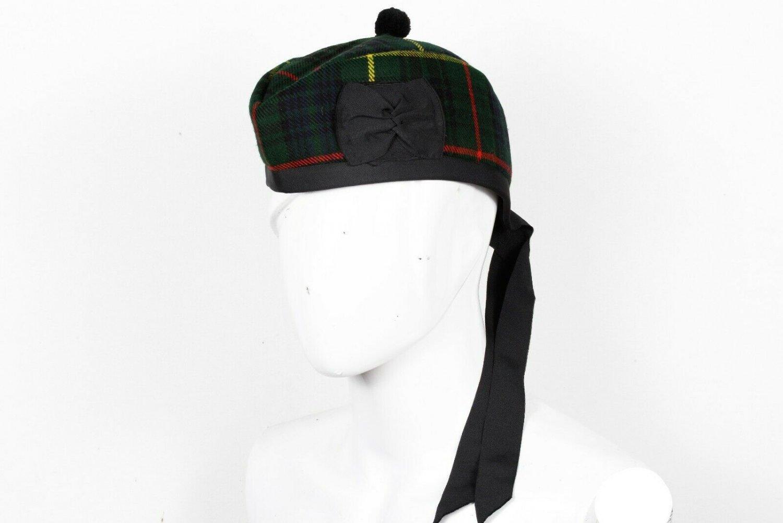 Premium Handmade Scottish Military Piper Clan Tartan Glengarry Hat/Kilt Cap / Hunting Stewart