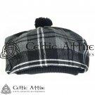 New Handmade Scottish Tam o' shanter Flat Bonnet Hat / Tammie Cap In Clan Tartan Granite