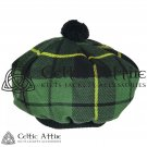 New Handmade Scottish Tam o' shanter Flat Bonnet Hat / Tammie Cap In Clan Tartan Wallace hunting