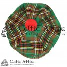 New Handmade Scottish Tam o' shanter Flat Bonnet Hat / Tammie Cap In Clan Tartan Tara Murphy
