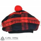 New Handmade Scottish Tam o' shanter Flat Bonnet Hat / Tammie Cap In Clan Tartan Machlachan