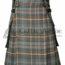 Mackenzie Weathered- Scottish TARTAN UTILITY Modern KILT for Men - 16 Oz Acrylic 30 waist