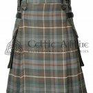 Mackenzie Weathered- Scottish TARTAN UTILITY Modern KILT for Men - 16 Oz Acrylic 32 waist