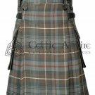 Mackenzie Weathered- Scottish TARTAN UTILITY Modern KILT for Men - 16 Oz Acrylic 46 waist