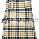 Premium - Scottish 8 Yard TARTAN KILT - 13 Oz Acrylic Fabric - Clan Campbell 34 waist
