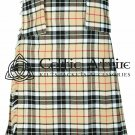 Premium - Scottish 8 Yard TARTAN KILT - 13 Oz Acrylic Fabric - Clan Campbell 44 waist