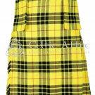 Premium - Scottish 8 Yard TARTAN KILT - 13 Oz Acrylic Fabric - Macleod of Lewis 46 waist