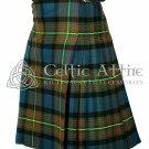 Premium - Scottish 8 Yard TARTAN KILT - 16 Oz Acrylic Fabric - Clan Muir Tartan 34 waist